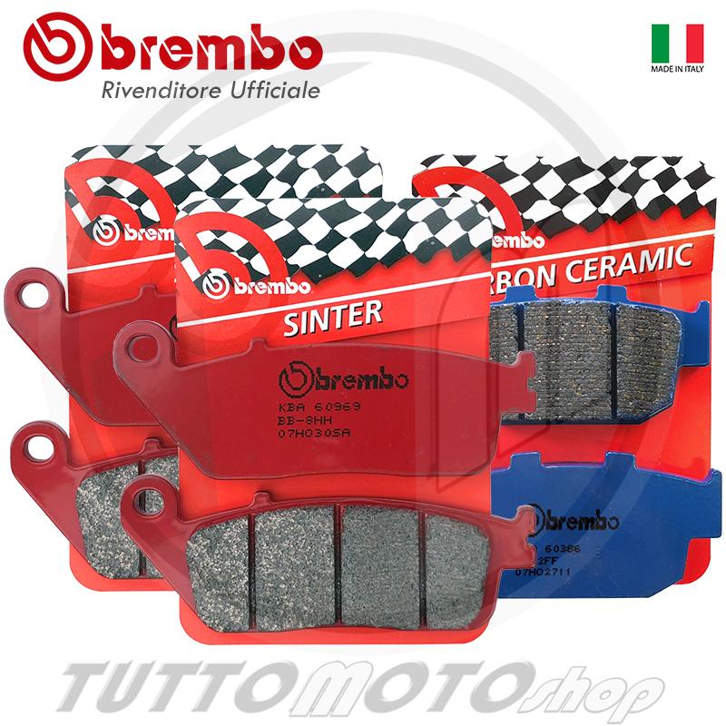 PASTIGLIE FRENO BREMBO SA ANTERIORI POSTERIORI TIGER XC 800 2011 2012